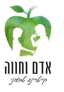 לוגו קייטרינג טבעוני אדם וחווה